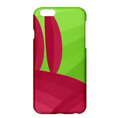 Green And Red Landscape Apple Iphone 6 Plus/6s Plus Hardshell Case by Valentinaart