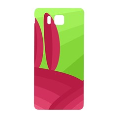 Green And Red Landscape Samsung Galaxy Alpha Hardshell Back Case by Valentinaart