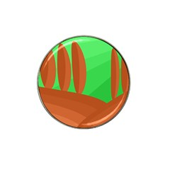 Green And Orange Landscape Hat Clip Ball Marker (4 Pack) by Valentinaart
