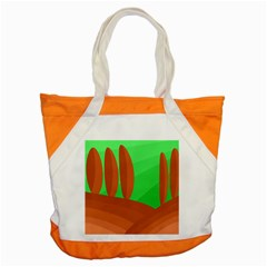 Green And Orange Landscape Accent Tote Bag by Valentinaart