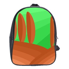 Green And Orange Landscape School Bags (xl)  by Valentinaart