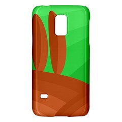 Green And Orange Landscape Galaxy S5 Mini by Valentinaart