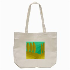 Green And Yellow Landscape Tote Bag (cream) by Valentinaart
