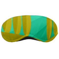 Green And Yellow Landscape Sleeping Masks by Valentinaart