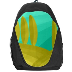Green And Yellow Landscape Backpack Bag by Valentinaart