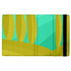 Green And Yellow Landscape Apple Ipad 2 Flip Case by Valentinaart