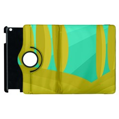 Green And Yellow Landscape Apple Ipad 2 Flip 360 Case by Valentinaart