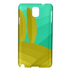 Green And Yellow Landscape Samsung Galaxy Note 3 N9005 Hardshell Case by Valentinaart