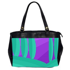 Purple And Green Landscape Office Handbags (2 Sides)  by Valentinaart
