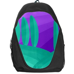 Purple And Green Landscape Backpack Bag by Valentinaart