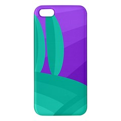 Purple And Green Landscape Apple Iphone 5 Premium Hardshell Case by Valentinaart