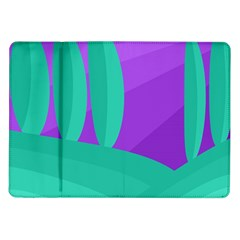 Purple And Green Landscape Samsung Galaxy Tab 10 1  P7500 Flip Case by Valentinaart