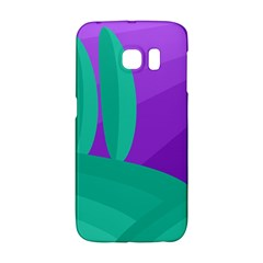 Purple And Green Landscape Galaxy S6 Edge by Valentinaart