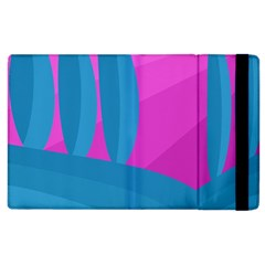 Pink And Blue Landscape Apple Ipad 2 Flip Case by Valentinaart