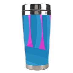 Pink And Blue Landscape Stainless Steel Travel Tumblers