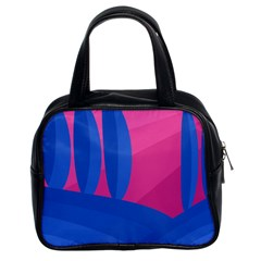 Magenta And Blue Landscape Classic Handbags (2 Sides) by Valentinaart