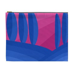 Magenta And Blue Landscape Cosmetic Bag (xl) by Valentinaart