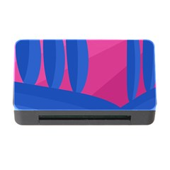 Magenta And Blue Landscape Memory Card Reader With Cf by Valentinaart