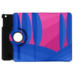 Magenta And Blue Landscape Apple Ipad Mini Flip 360 Case by Valentinaart