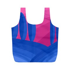 Magenta And Blue Landscape Full Print Recycle Bags (m)  by Valentinaart