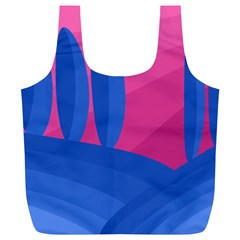 Magenta And Blue Landscape Full Print Recycle Bags (l)  by Valentinaart