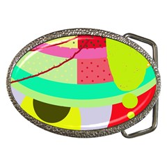 Colorful Abstraction By Moma Belt Buckles by Valentinaart