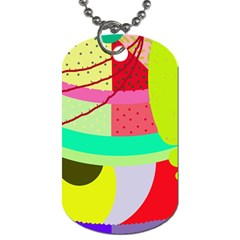 Colorful Abstraction By Moma Dog Tag (two Sides) by Valentinaart
