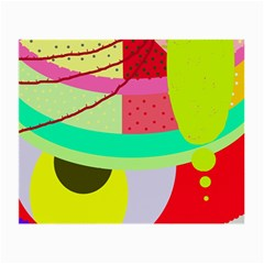 Colorful Abstraction By Moma Small Glasses Cloth by Valentinaart