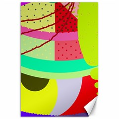 Colorful Abstraction By Moma Canvas 20  X 30   by Valentinaart