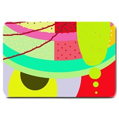 Colorful Abstraction By Moma Large Doormat  by Valentinaart