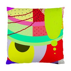 Colorful Abstraction By Moma Standard Cushion Case (two Sides) by Valentinaart
