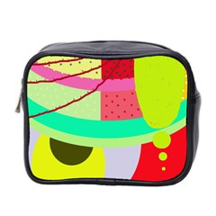 Colorful Abstraction By Moma Mini Toiletries Bag 2 Side by Valentinaart