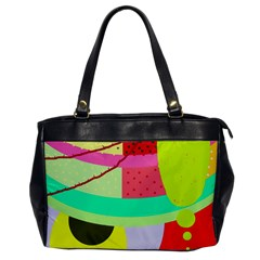 Colorful Abstraction By Moma Office Handbags by Valentinaart