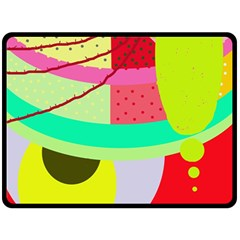 Colorful Abstraction By Moma Fleece Blanket (large)  by Valentinaart