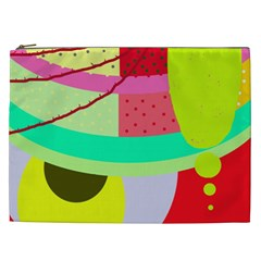 Colorful Abstraction By Moma Cosmetic Bag (xxl)  by Valentinaart