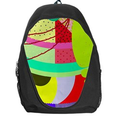 Colorful Abstraction By Moma Backpack Bag by Valentinaart