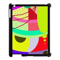 Colorful Abstraction By Moma Apple Ipad 3/4 Case (black) by Valentinaart