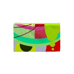 Colorful Abstraction By Moma Cosmetic Bag (xs) by Valentinaart