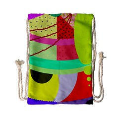 Colorful Abstraction By Moma Drawstring Bag (small) by Valentinaart