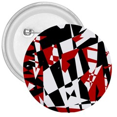 Red, Black And White Chaos 3  Buttons by Valentinaart