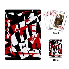 Red, Black And White Chaos Playing Card by Valentinaart