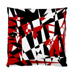 Red, Black And White Chaos Standard Cushion Case (one Side) by Valentinaart