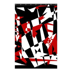 Red, Black And White Chaos Shower Curtain 48  X 72  (small)  by Valentinaart