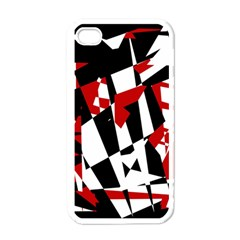 Red, Black And White Chaos Apple Iphone 4 Case (white) by Valentinaart