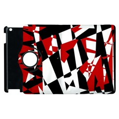 Red, Black And White Chaos Apple Ipad 3/4 Flip 360 Case by Valentinaart