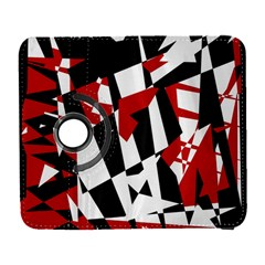 Red, Black And White Chaos Samsung Galaxy S  Iii Flip 360 Case by Valentinaart