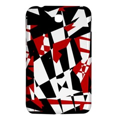 Red, Black And White Chaos Samsung Galaxy Tab 3 (7 ) P3200 Hardshell Case  by Valentinaart