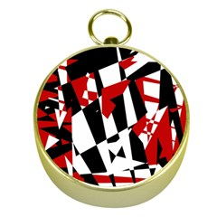 Red, Black And White Chaos Gold Compasses