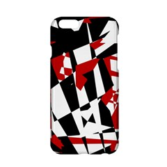 Red, Black And White Chaos Apple Iphone 6/6s Hardshell Case by Valentinaart
