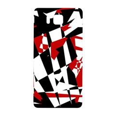 Red, Black And White Chaos Samsung Galaxy Alpha Hardshell Back Case by Valentinaart